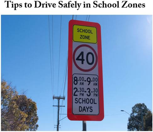 Driving School Gold Coast: Tips How to Drive in\\Safely in School Zones
